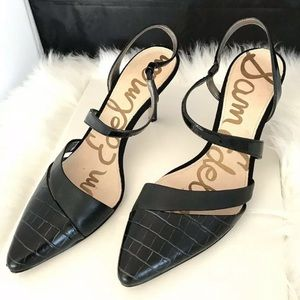 Sam Edelman Heels Black Slingback Othello Sz 9
